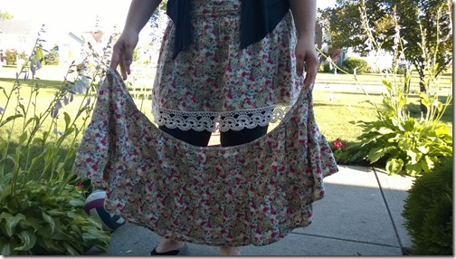 I shortened this skirt just a bit, then added some gorgeous